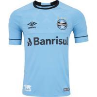 Camisa Do Grêmio Nations Charrua Umbro Com Patrocínio - Masculina - Azul/Preto