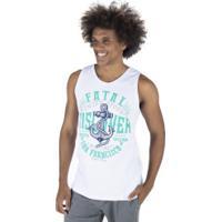 Camiseta Regata Fatal Estampada 17083 - Masculina - Branco