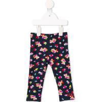 Kenzo Kids Legging Com Estampa Japanese Flower - Azul