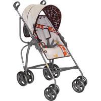 Carrinho De Bebê Campora Grafite Girafa Assento Reversível E Reclinável - Galzerano