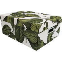 Caixa Organizadora Amazã´Nia- Verde & Branca- 18X31X4Boxmania