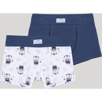 Kit De 2 Cuecas Infantis Del Rio Boxer Multicor