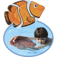 Prancha De Natação Orange Fish Floty - Laranja - Unissex
