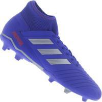 ... Chuteira De Campo Adidas Predator 19.3 Fg - Adulto - Azul 69b3043144b59