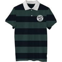 Camiseta Polo Quem Chuta Busca - Masculino-Preto+Verde