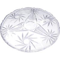 Prato Cristal Para Bolo Bohemia Pinwheel 31Cm Ref-57010