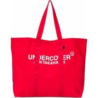 Undercover Bolsa Tote Com Estampa De Logo - Vermelho