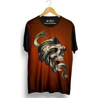 Camiseta Dep Caveira Cobra Vinho