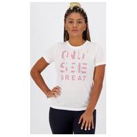 Camiseta Puma Performance Slogan Sleeve Feminina Branca