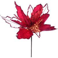 Flor Natalina Decorativa - Vermelha - 40X45X10Cmmabruk