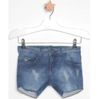Short Jeans Com Puídos- Azul Escurocalvin Klein