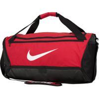Mala Nike Brasilia M 9.0 - 60 Litros - Vermelho/Preto