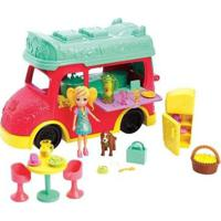 Boneca Polly Pocket Food Truck Com Acessórios Mattel - Feminino-Vermelho