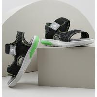Sandália Papete Infantil Molekinho Com Velcro Preta