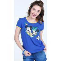 Blusa Infantil Estampa Minnie E Mickey Copa Do Mundo Disney