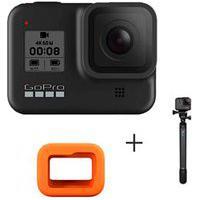 Camera Digital Gopro Hero 8 Black 12Mp, 4K Chdhx-801-Rx + Floaty Gopro Acflt-001 + Bastao Extensor Agxts-001