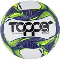 Bola Society Topper Drible 2019 - Branco/Azul