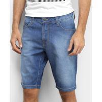 Bermuda Jeans Colcci Noah Estonada Masculina - Masculino-Azul