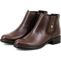 Botina Gasparini Chelsea Boots Marrom