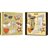 Kit Perfume 212 Vip Feminino Eau De Parfum 50Ml + Body Lotion 75Ml