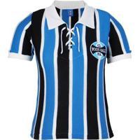 Camisa Grêmio Retrô 1929 C/ Cordinha Feminina - Feminino