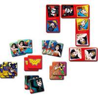 Conjunto De Jogos - Dc Comics - Dominó E Jogo Da Memória - Mulher Maravilha - Elka