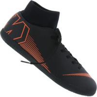 Chuteira Futsal Nike Mercurial Superfly X 6 Club Ic - Adulto - Preto/Laranja Esc