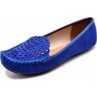 Mocassim Vizzano Nobuck Nice Glam Feminino - Feminino-Azul