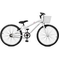Bicicleta Master Bike Aro 24 Feminina Serena Branco