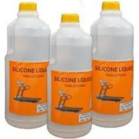 Combo 3Lts Silicone Liquido Lubrificante Para Esteiras - Unissex
