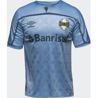 Camisa Umbro Grêmio 2020 Iii Atleta Sem Número Azul Celeste Masculina