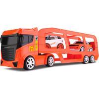 Caminhão Cegonheira - Com 2 Carrinhos - Next Race - Laranja - Roma Jensen