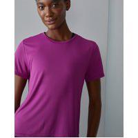 Amaro Feminino Camiseta Esportiva Básica U, Rosa Escuro