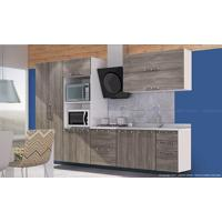 Cozinha Modulada Completa Com 6 Módulos Branco/Rústico - Art In Móveis