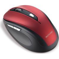 Mouse Sem Fio 2.4 Ghz Comfort 6B Vermelho/Preto Multilaser