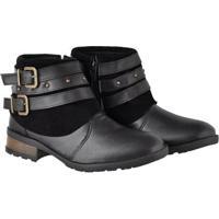 Bota Couro Montaria Atrative Boots Feminino - Feminino-Preto