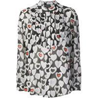 Emporio Armani Blusa Com Estampa De Corações - Preto