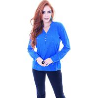 Blusa Sideral Bata De Laise Azul