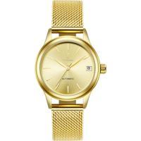 Relógio Tevise 9017 Masculino Automático Pulseira De Aço - Dourado