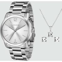 Kit Relógio Feminino Lince Lrm4447L K267S2Sx