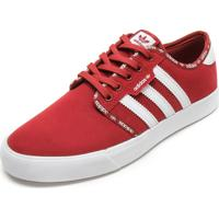 Tênis Adidas Skateboarding Seeley Vermelho/Branco