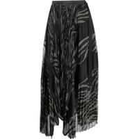 Sacai Two Tone Pleated Skirt - Verde