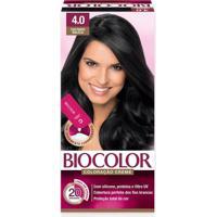 Tintura Biocolor Coloração Creme Castanho 4.0 Mini Kit