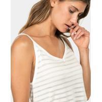 Blusa Com Alças Tricô Branco Off White - Lez A Lez