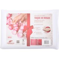 Travesseiro Fibrasca Dois Amores Toque De Rosas Visco E Conforto De Látex Bege