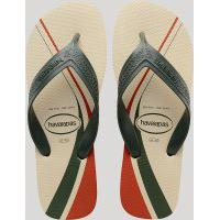 Chinelo Masculino Havaianas Top Max Basic Com Listras Bege Claro