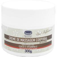 Creme De Massgem Corporal Óleo De Coco E Vitamina E Ideal 300G