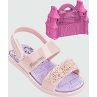Sandália Infantil Princesas Castelo Real Brinde Grendene Kids