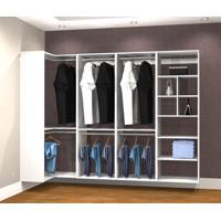 Conjunto Completo Para Closet 41 Branco - Getama Moveis