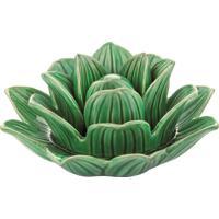 Flor Em Cerâmica Verde Mart